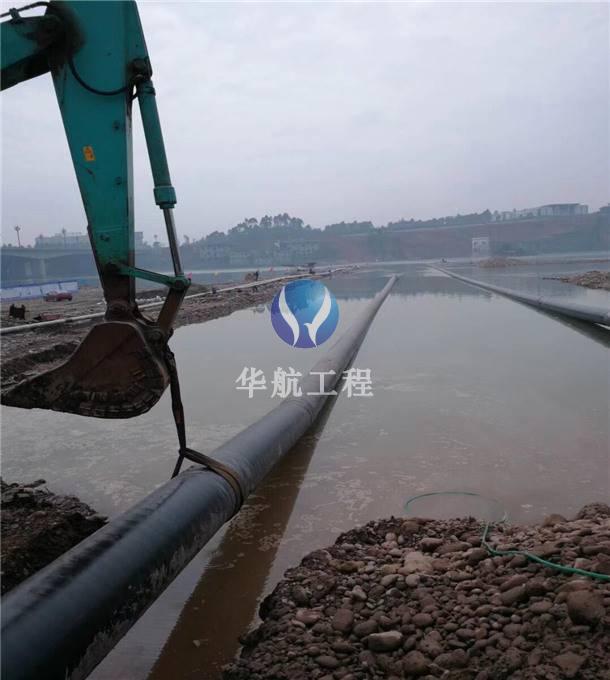 过河管道水下沉管安装工程